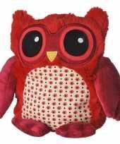 Feest warme knuffel kruik rode uil