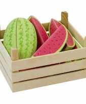 Feest watermeloenschijven van hout