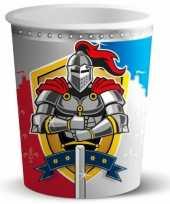 Feest wegwerp bekertjes ridder