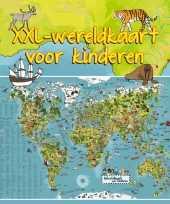 Feest wereldkaart dieren xxl voor kinderen