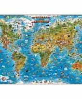 Feest wereldkaart voor kinderen