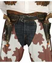 Feest western cowboy revolvers inclusief dubbele holster