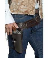 Feest western riem met holster