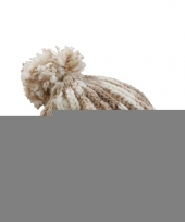 Feest winter muts met pompon