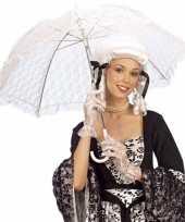 Feest wit kanten parasol