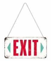 Feest wit ophangbordje exit