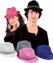 Feest witte hoedjes met diamantjes