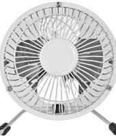 Feest witte usb ventilator 15 cm