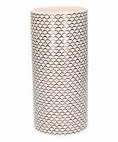 Feest witte vaas met schubben print 28 cm