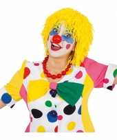 Feest wollen clown pruiken geel