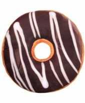 Feest woonaccessoire bruin donut kussentje 40 cm
