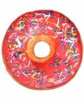 Feest woonaccessoire roze donut kussen 40 cm 10096757
