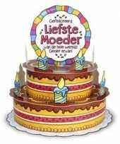 Feest xxl 3d taart kaart liefste moeder