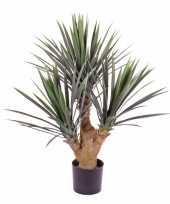 Feest yucca kunstplant 90 cm in pot voor binnen buiten