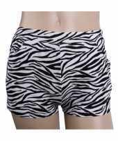 Feest zebra print hotpants voor dames