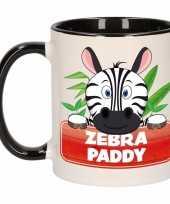 Feest zebra theebeker zwart wit zebra paddy 300 ml