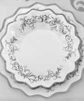 Feest zilveren bruiloft schaaltjes 24 cm