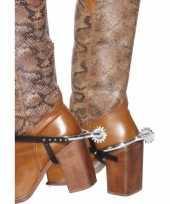 Feest zilveren cowboy sporen