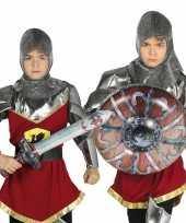Feest zilveren ridder set opblaasbaar 10099569