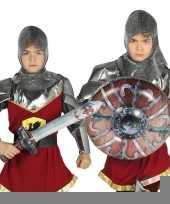 Feest zilveren ridder set opblaasbaar 10099727