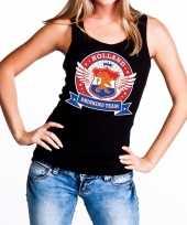 Feest zwart holland drinking team tanktop mouwloos shirt dames 10140298