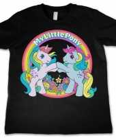 Feest zwart meisjes t-shirt my little pony