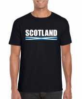 Feest zwart schotland supporter t-shirt voor heren