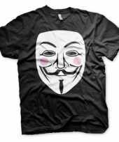 Feest zwart v for vendetta t-shirt