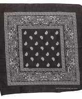 Feest zwarte bandana zakdoek 55 x 55 cm