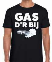 Feest zwarte cross gas der bij festival t-shirt zwart heren
