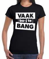 Feest zwarte cross vaak bujte bang festival t-shirt zwart dames
