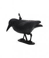 Feest zwarte decoratie raaf kraai 35 cm