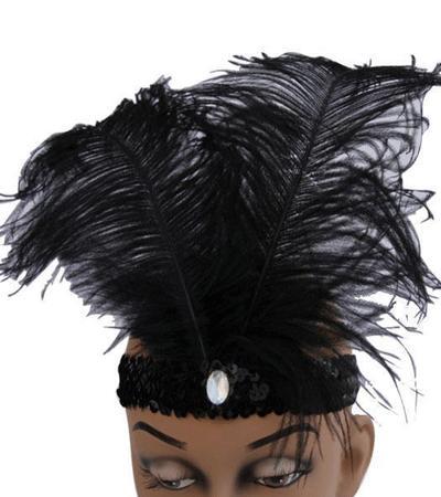 Feest zwarte glimmende hoofdbanden