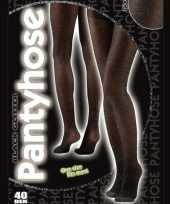 Feest zwarte glitter panty voor vrouwen
