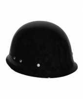 Feest zwarte helm voor volwassenen