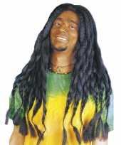 Feest zwarte hippiepruik met dreads