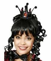 Feest zwarte kroon voor een prinses
