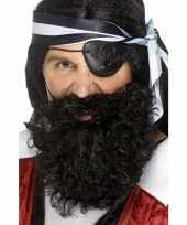 Feest zwarte piraten baard gekruld