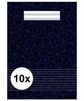 Feest zwarte school schriften a4 met lijntjes 10 x