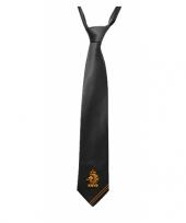 Feest zwarte stropdassen met knvb logo