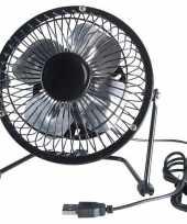 Feest zwarte usb ventilator 15 cm