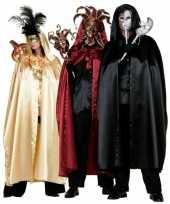 Feest zwarte venetiaanse cape voor volwassenen