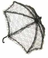Feest zwarte vintage paraplu