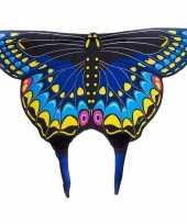 Feest zwarte zwaluwstaartvlinder vleugels voor kids