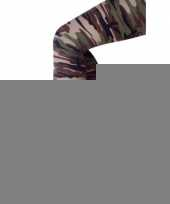 Feestartikelen camouflage print legging