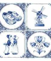 Feestartikelen servetten holland thema 20 stuks