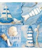 Feestartikelen servetten maritiem thema 20 stuks