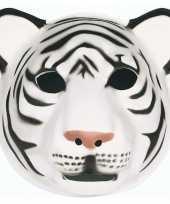 Feestartikelen tijger masker wit