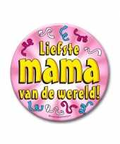Feestartikelen xxl button liefste mama