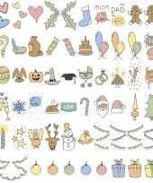 Feestdagen emoticons voor in lichtbak